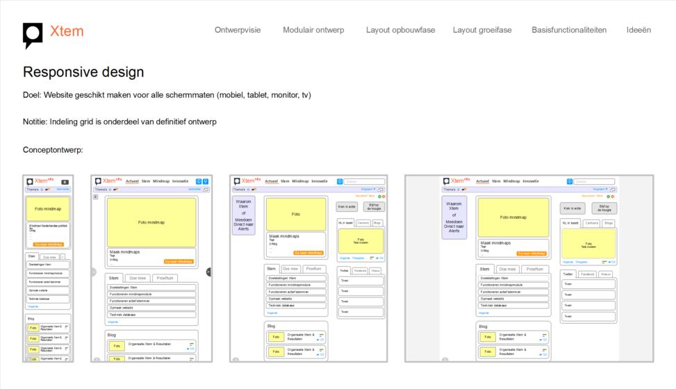 Xtem functioneel ontwerp voor stemmen per thema via internet