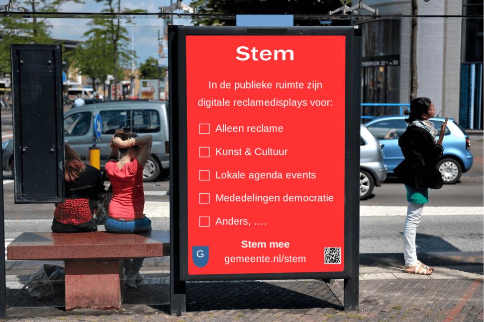 digitale reclame displays en beeldschermen in de publieke ruimte zoals in abri's en op gevels mogen die altijd aan staan? Moeten ze meer vertonen dan alleen reclame, zoals kunst en lokale mededelingen. Lees meer in de blog.